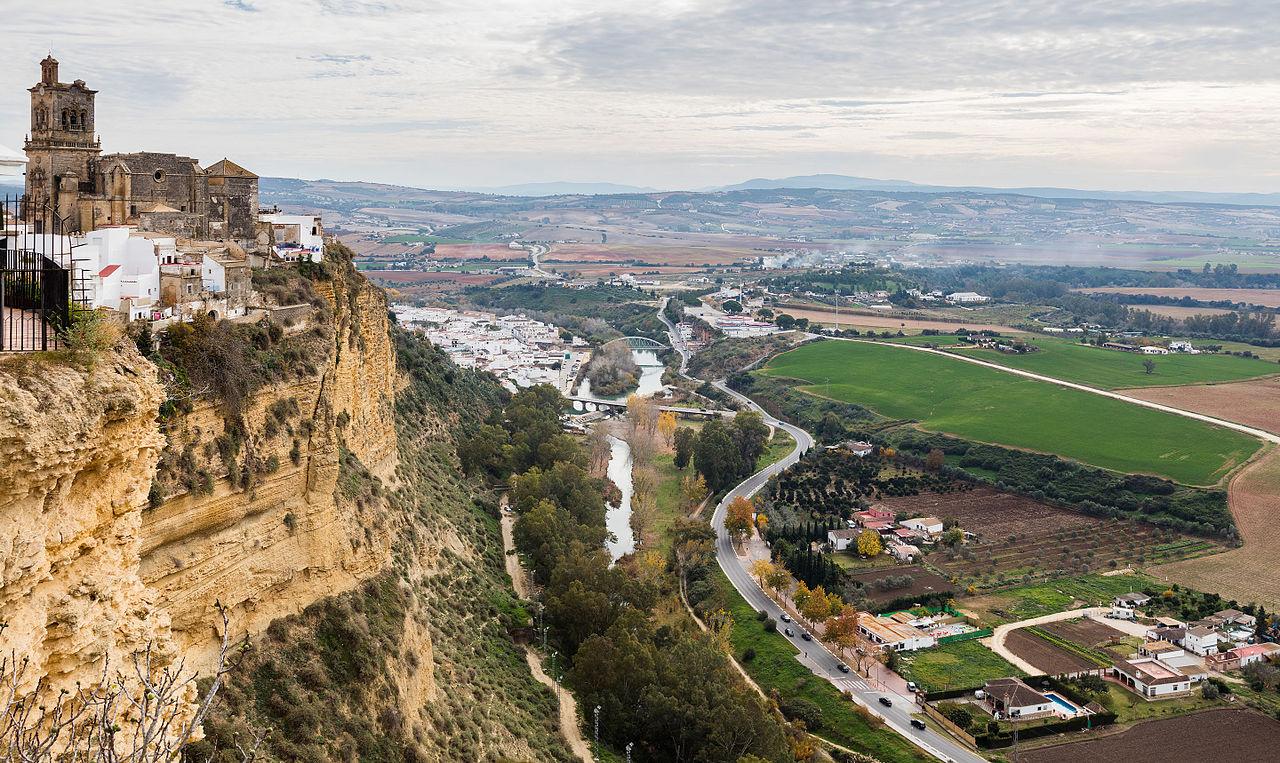 Vista de Arcos de la Frontera desde el Balcon de la Pena Nueva Cadiz Espana