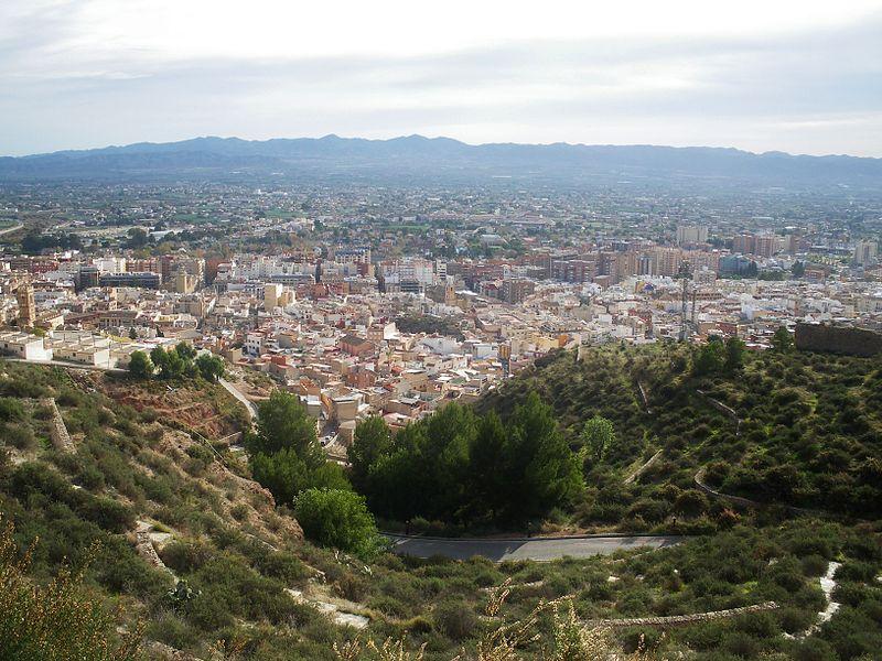 Vista de la ciudad de Lorca desde el Castillo.