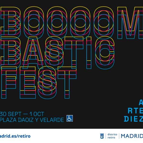 Concierto de Boooom Bastic Fest 2021 en Plaza de Daoíz y Velarde en Madrid