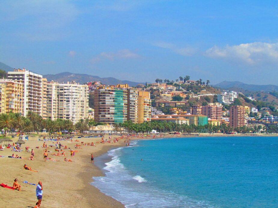 Playa de la Malagueta, en Málaga