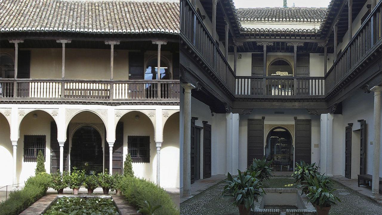 Patio de la Casa del Chapiz. y Casa de Hernan Lopez el Feri Granada