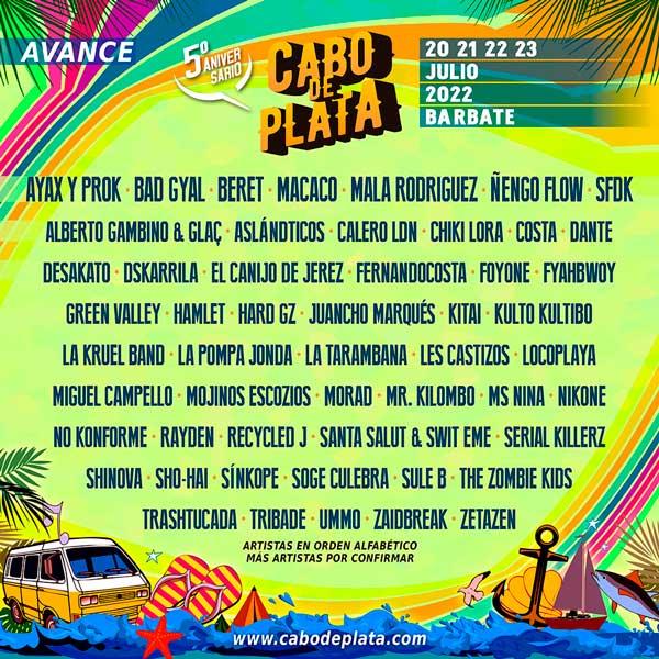 Concierto de Cabo de Plata 2022 en Playa de la Hierbabuena en Cádiz