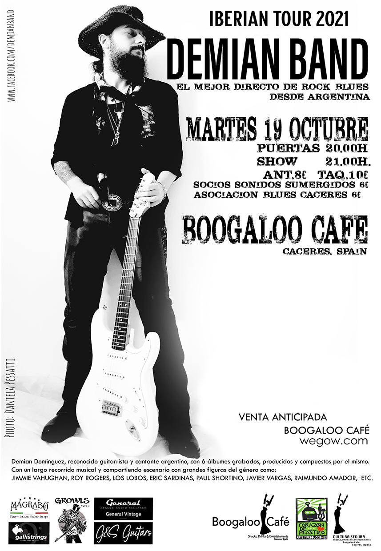 demian band concierto en boogaloo cafe caceres 16335474149831917